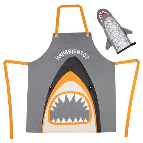 Delantal Tiburón + Guante tiburón