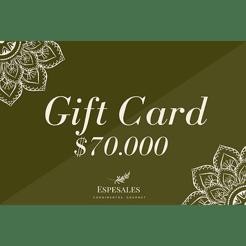 Gift Card $70.000