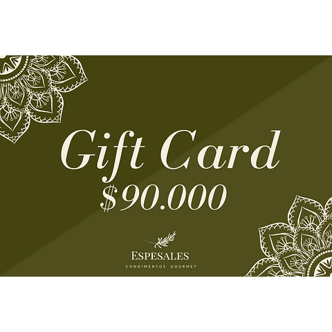 Gift Card $90.000