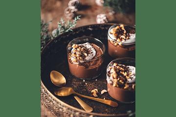 ¡Vasitos de chocolate y avellanas veganos!🍫