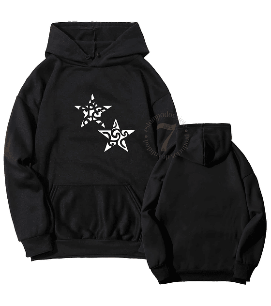 Poleron Canguro Doble Estrella Tribal