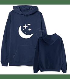 Poleron Canguro Luna & Estrellas