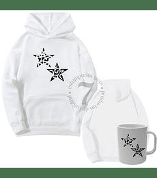 Poleron Canguro Doble  Estrella Tribal  Con Taza