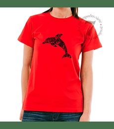 Polera Manga Corta Delfin Tribal