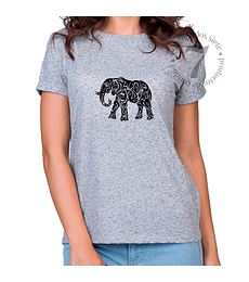 Polera Manga Corta Elefante Tribal
