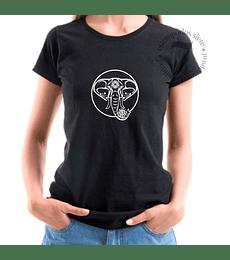 Polera Manga Corta Mandala De Elefante
