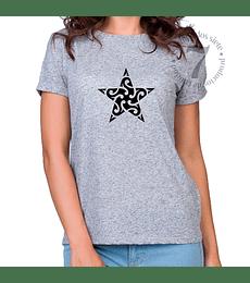 Polera Manga Corta Estrella Tribal