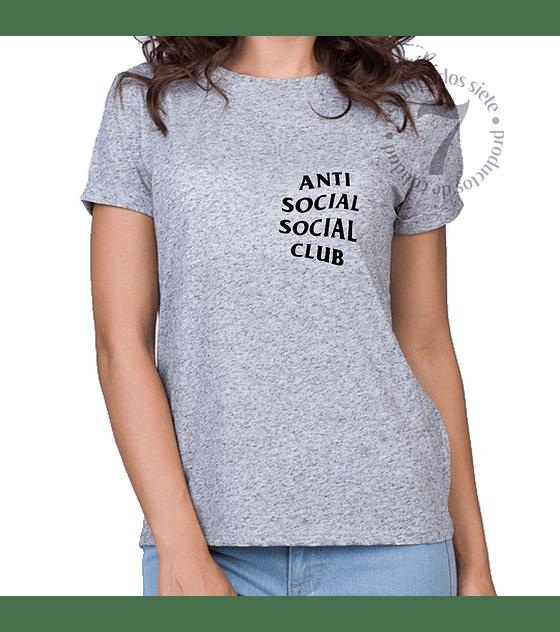 Polera Manga Corta Dama Anti Social Social Club