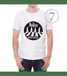 Polera Manga Corta The Beatles Silueta