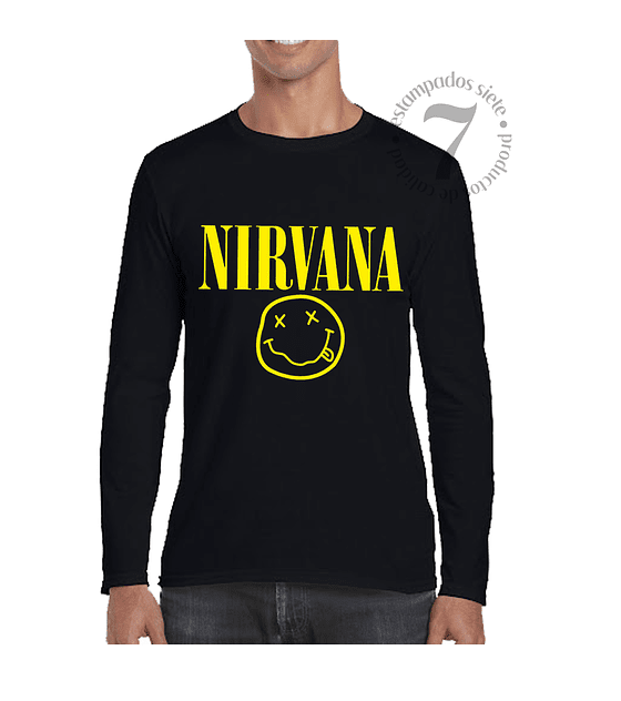 Polera Manga Larga Nirvana
