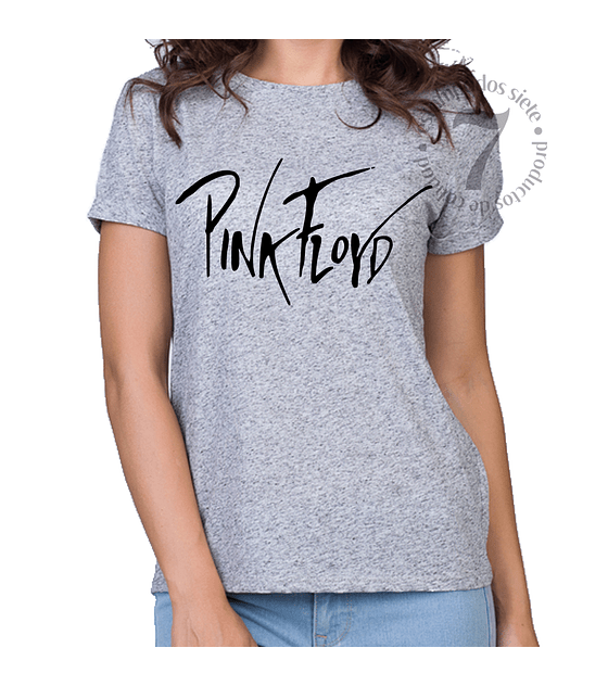 Polera Manga Corta Dama Pink Floyd
