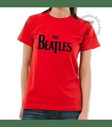 Polera Manga Corta Dama The Beatles