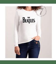 Polera Manga Larga Dama The Beatles