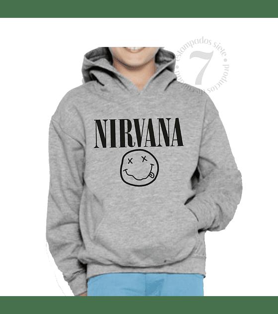 Poleron Canguro Nirvana Niñas/Niños/Jovenes
