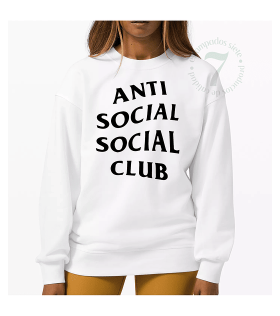 Poleron Cuello Polo Anti Social Social Club