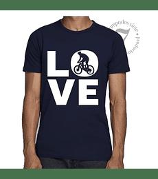 Polera Manga Corta Love Bici