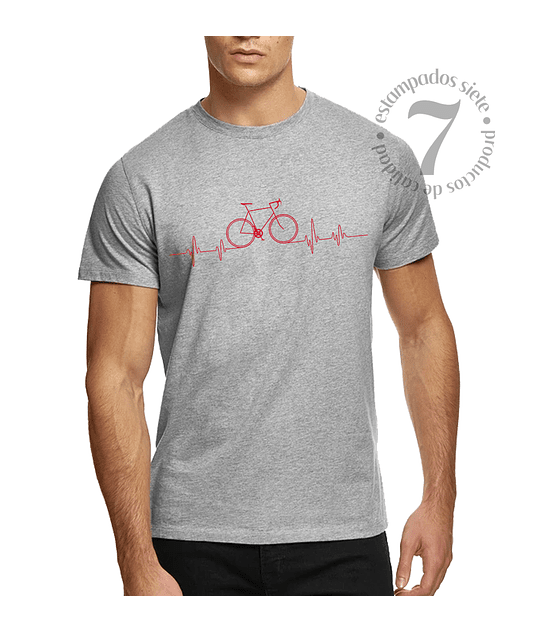 Polera Manga Corta Bicicleta En Linea Cardeaca