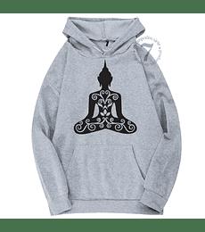 Poleron Canguro Mandala De Buda