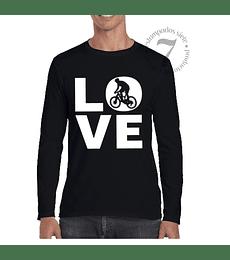Polera Manga Larga Love Bici