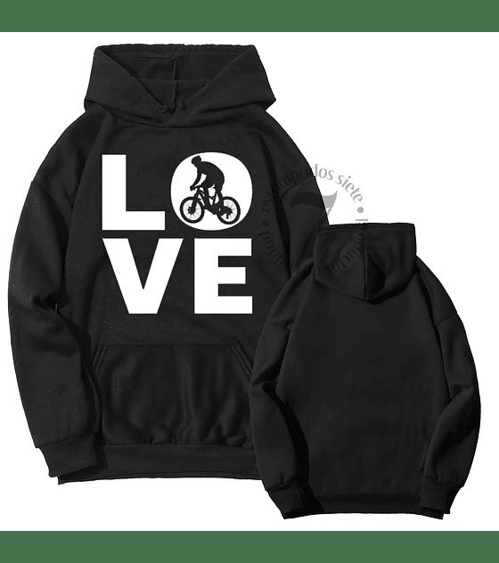 Poleron Canguro Love Bici