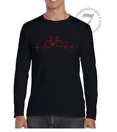 Polera Manga Larga Bicicleta Linea Cardiaca