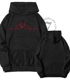Poleron Canguro Bicicleta Linea Cardiaca