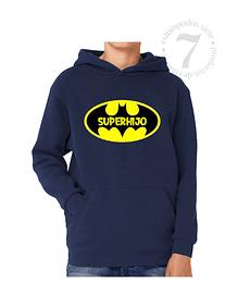 Poleron Canguro Batman Superhijo/a Niñas/Niños/Jovenes