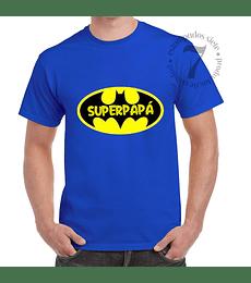 Polera Manga Corta Batman Superpapá