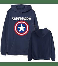 Poleron Canguro Capitan America Superpapá