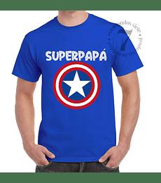 Polera Manga Corta Capitan America Superpapá