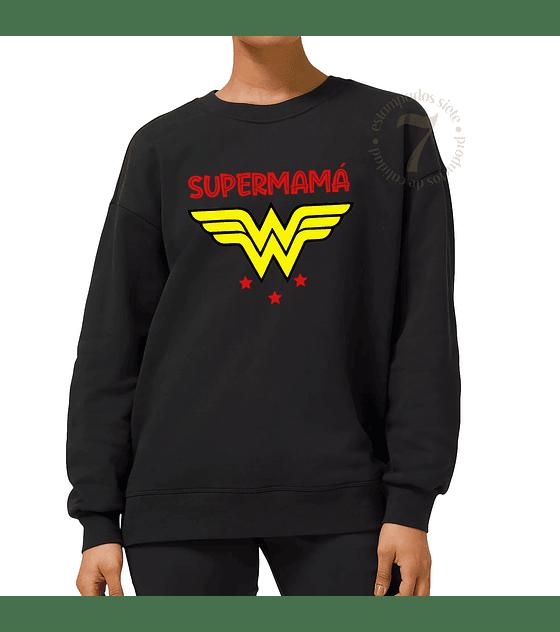 Poleron Cuello Polo Mujer Maravilla Supermamá