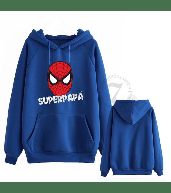 Poleron Canguro Spiderman Superpapá