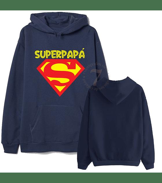 Poleron Canguro Superman Superpapá