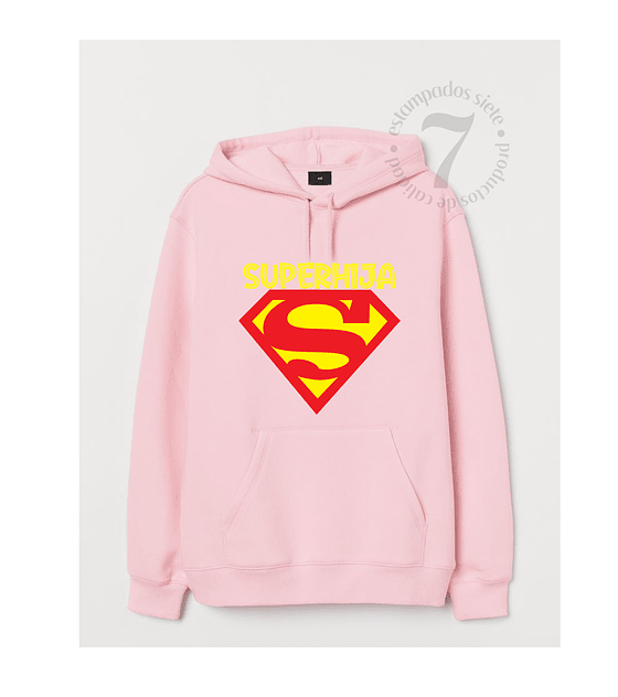 Poleron Canguro Superman Superhijo/a Niñas/Niños/Jovenes