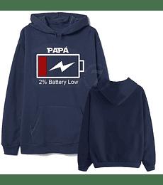 Poleron Canguro 100% Charged Papá