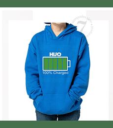Poleron Canguro  100% Charged Niños/Jovenes