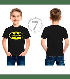 Polera Manga Corta Batman Superhijo