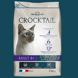 Crocktail Gato Senior +8 Años Esterilizado / Light 2 Kg