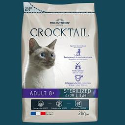 Crocktail Gato Senior +8 Años Esterilizado / Light 2 Kg