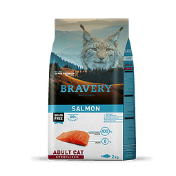 Bravery Gato Adulto Esterilizado Sabor Salmon
