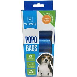 WuWu Popo Bags bolsas para fecas biodegradables 80 unid