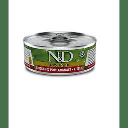 N&D Prime Lata Pollo Granada Kitten 80 gr