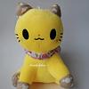 Peluche de gato con lazo 23 cm