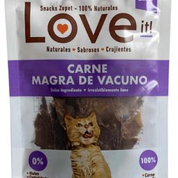 Snack gato love it! Carne magra de vacuno