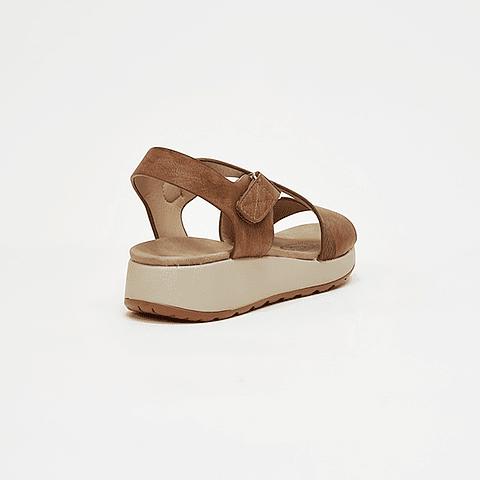 Via Rosmini - Sandalia Mujer Camel