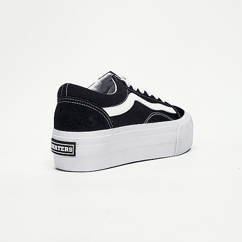Skaters -  Zapatilla Mujer Black White