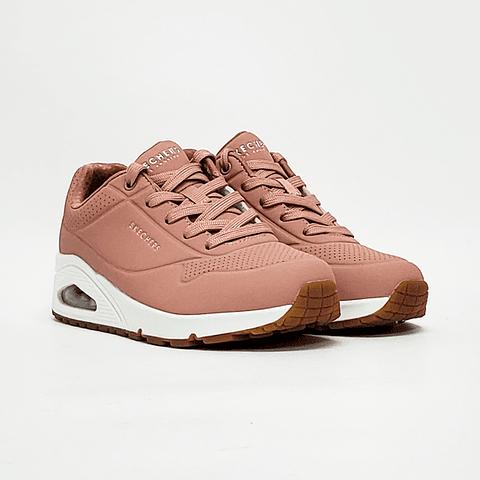 Skechers - Zapatilla Mujer Uno Rosado