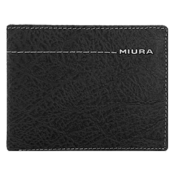Miura - Billetera Cuero Hombre Negra