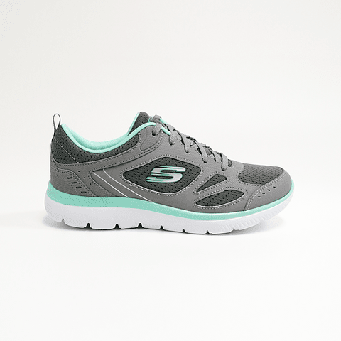 SKECHERS - ZAPATILLA MUJER SUMMITS SUITED GRAY