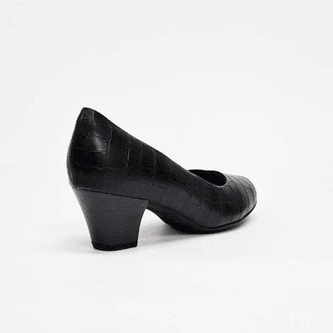 Piccadilly - Zapato Mujer Napa Croco Preto